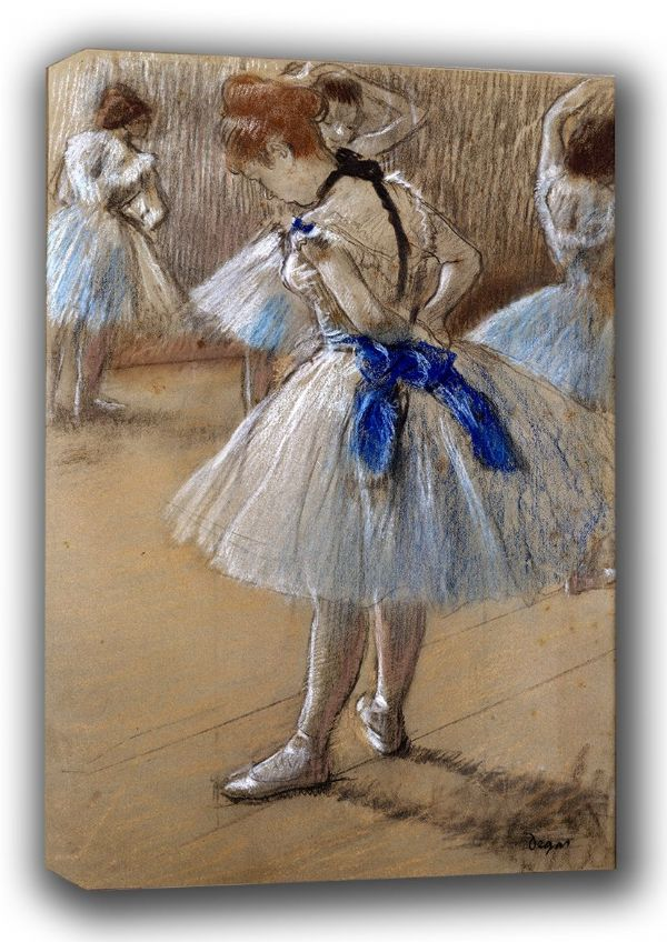 Degas, Edgar: Dancer. (Ballet/Ballerina) Fine Art Canvas. Sizes: A3/A2/A1 (00466)